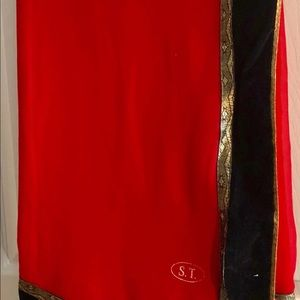 Red Saree with Blouse Piece